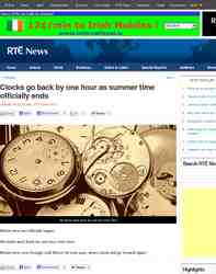 Clocks go back an hour as winter time: RTE.ie